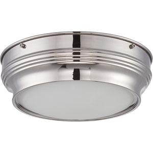 Lark Polished Nickel One-Light LED Flush Mount