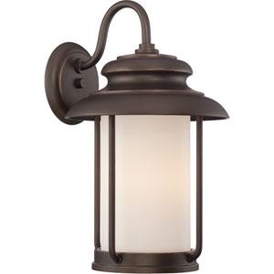 Bethany Mahogany Bronze 10-Inch One-Light LED Outdoor Wall Lantern