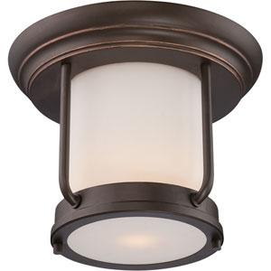 Bethany Mahogany Bronze One-Light LED Outdoor Flush Mount