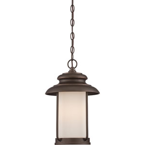Bethany Mahogany Bronze One-Light LED Outdoor Hanging Lantern