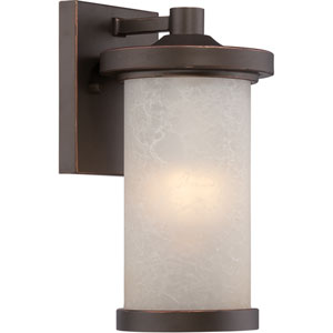 Diego Mahogany Bronze 5.5-Inch One-Light LED Outdoor Wall Lantern