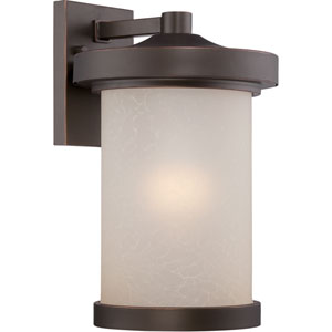 Diego Mahogany Bronze 9-Inch One-Light LED Outdoor Wall Lantern