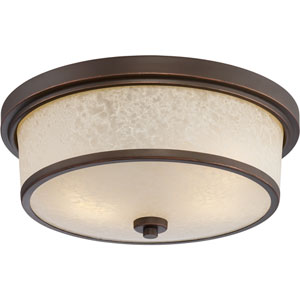 Diego Mahogany Bronze Two-Light LED Outdoor Flush Mount