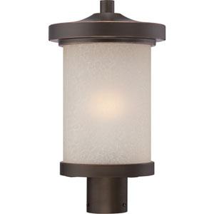 Diego Mahogany Bronze One-Light LED Outdoor Post Mount