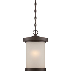 Diego Mahogany Bronze One-Light LED Outdoor Hanging Lantern