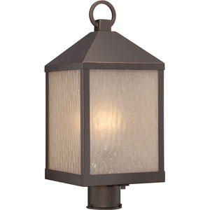 Haven Mahogany Bronze One-Light LED Outdoor Post Mount