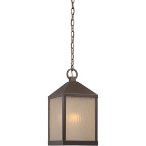 Haven Mahogany Bronze One-Light LED Outdoor Hanging Lantern