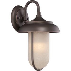 Tulsa Mahogany Bronze 8.5-Inch One-Light LED Outdoor Wall Lantern