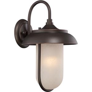Tulsa Mahogany Bronze 10-Inch One-Light LED Outdoor Wall Lantern