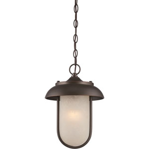 Tulsa Mahogany Bronze One-Light LED Outdoor Hanging Lantern