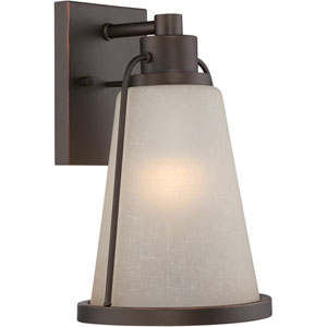 Tolland Mahogany Bronze 7.5-Inch One-Light LED Outdoor Wall Lantern