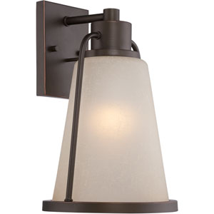 Tolland Mahogany Bronze 9-Inch One-Light LED Outdoor Wall Lantern