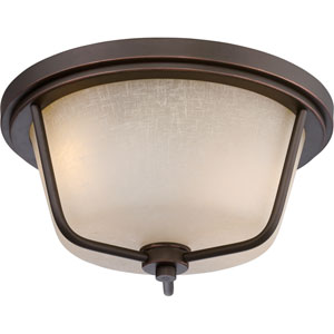 Tolland Mahogany Bronze Two-Light LED Outdoor Flush Mount