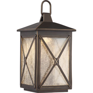 Roxton Umber Bay Small LED Outdoor Wall Light
