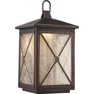 Roxton Umber Bay Large LED Outdoor Wall Light