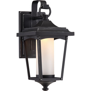 Essex Sterling Black Small LED Outdoor Wall Light