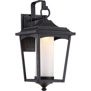 Essex Sterling Black Large LED Outdoor Wall Light