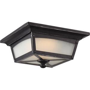 Essex Sterling Black LED Outdoor Flush Mount