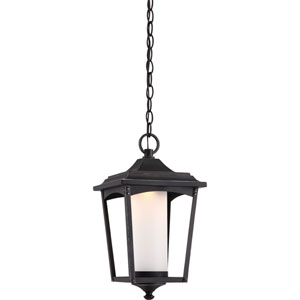 Essex Sterling Black LED Outdoor Hanging Lantern