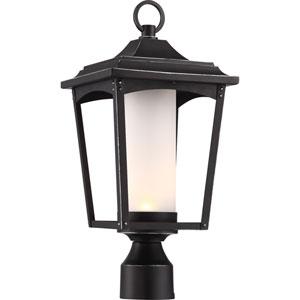 Essex Sterling Black LED Outdoor Post Lantern