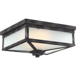 Winthrop Iron Black LED Outdoor Flush Mount