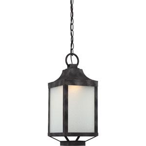 Winthrop Iron Black LED Outdoor Hanging Lantern