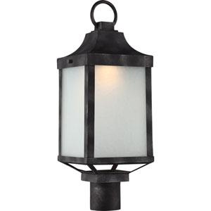 Winthrop Iron Black LED Outdoor Post Lantern