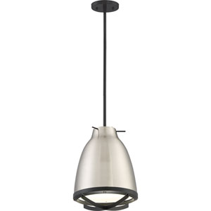 Thrust Brushed Nickel and White Accents LED Pendant