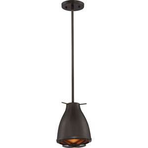 Thrust Dark Bronze and Copper Accents LED Mini Pendant