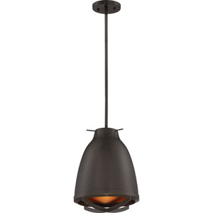 Thrust Dark Bronze and Copper Accents LED Pendant