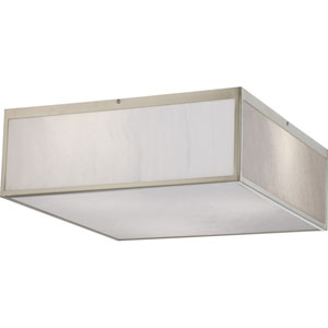 Crate Brushed Nickel 17-Inch LED Flush Mount