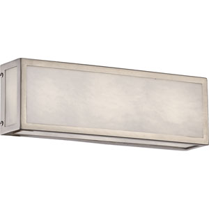 Crate Brushed Nickel 12-Inch LED Vanity