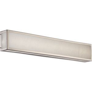 Crate Brushed Nickel 24-Inch LED Vanity