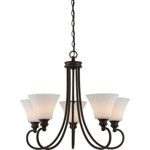 Tess Aged Bronze Five-Light LED Chandelier