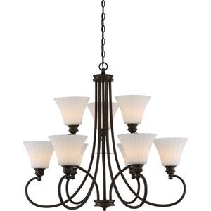 Tess Aged Bronze LED Chandelier