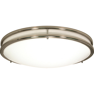 Glamour Brushed Nickel 10-Inch LED Flush Mount