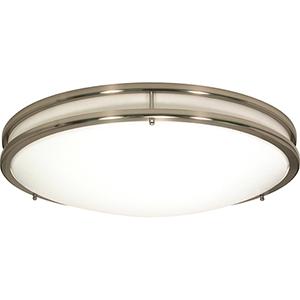 Glamour Brushed Nickel 13-Inch LED Flush Mount