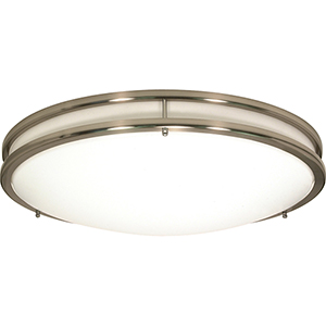 Glamour Brushed Nickel 17-Inch LED Flush Mount