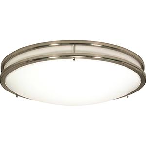 Glamour Brushed Nickel 24-Inch LED Flush Mount