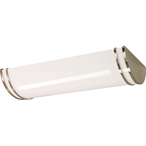 Glamour Brushed Nickel 25-Inch LED Troffer