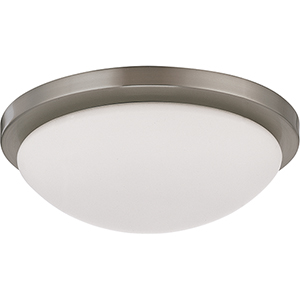 Button Brushed Nickel 11-Inch LED Flush Mount