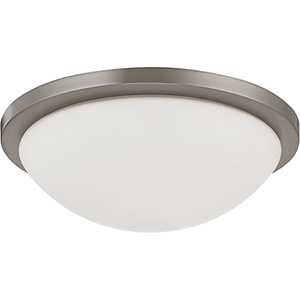Button Brushed Nickel 13-Inch LED Flush Mount