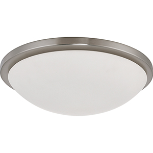 Button Brushed Nickel 17-Inch LED Flush Mount