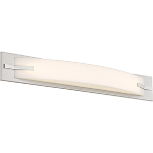 Bow Brushed Nickel 29-Inch LED Vanity