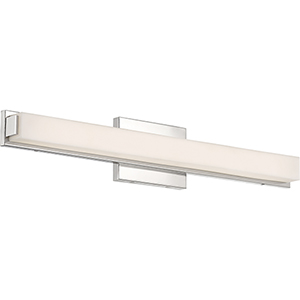 Slick Polished Nickel 25-Inch LED Vanity