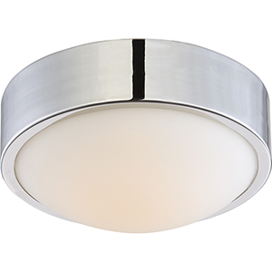 Perk Polished Nickel 9-Inch LED Flush Mount