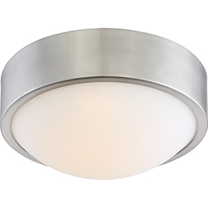 Perk Brushed Nickel 9-Inch LED Flush Mount