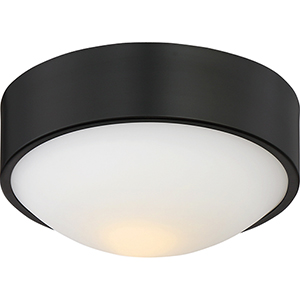 Perk Aged Bronze 9-Inch LED Flush Mount