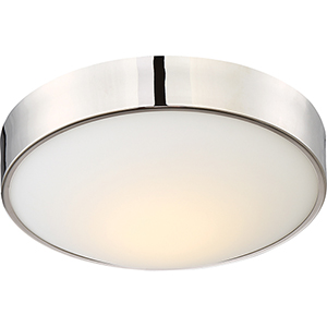 Perk Polished Nickel 13-Inch Flush Mount