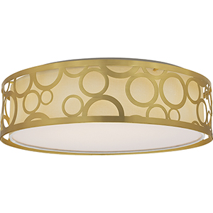 Filigree Natural Brass Energy Star LED Flush Mount